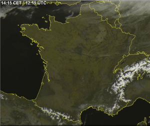 Grand soleil pendant RAIM 2015 (image satellite du 7 avril).
